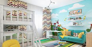 Выбор помещения и декора детской комнаты